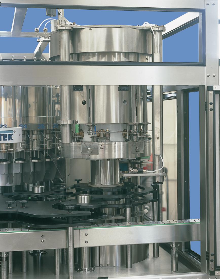 Tappatrici per sistemi: Sughero raso; Sughero fungo; Te; Fungo plastica; Vite alluminio; Stelvin; Stevin Lux.